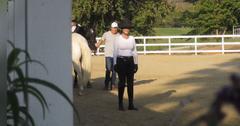 //lisa vanderpump goes horseback riding pp