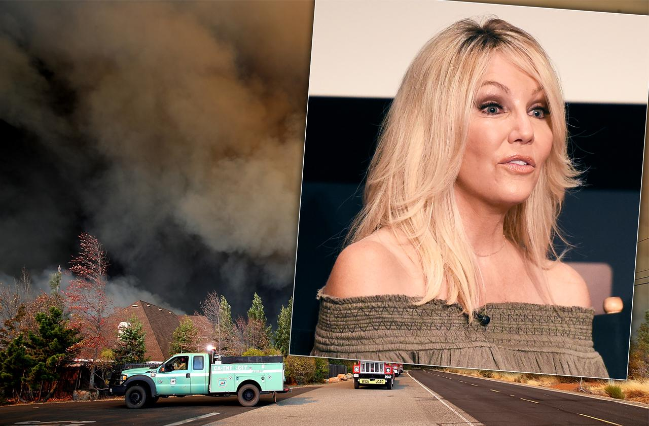 Heather Locklear Flees Home Surrounded By Raging Fire