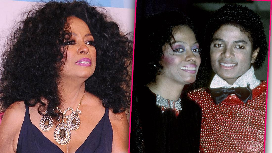 Diana Ross Supports Michael Jackson