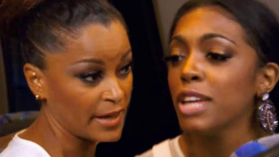 Porscha Williams And Claudia Jordan Fight