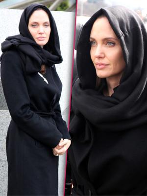 //working mom angelina jolie wears a traditional headscarf on un humanitarian mission tall