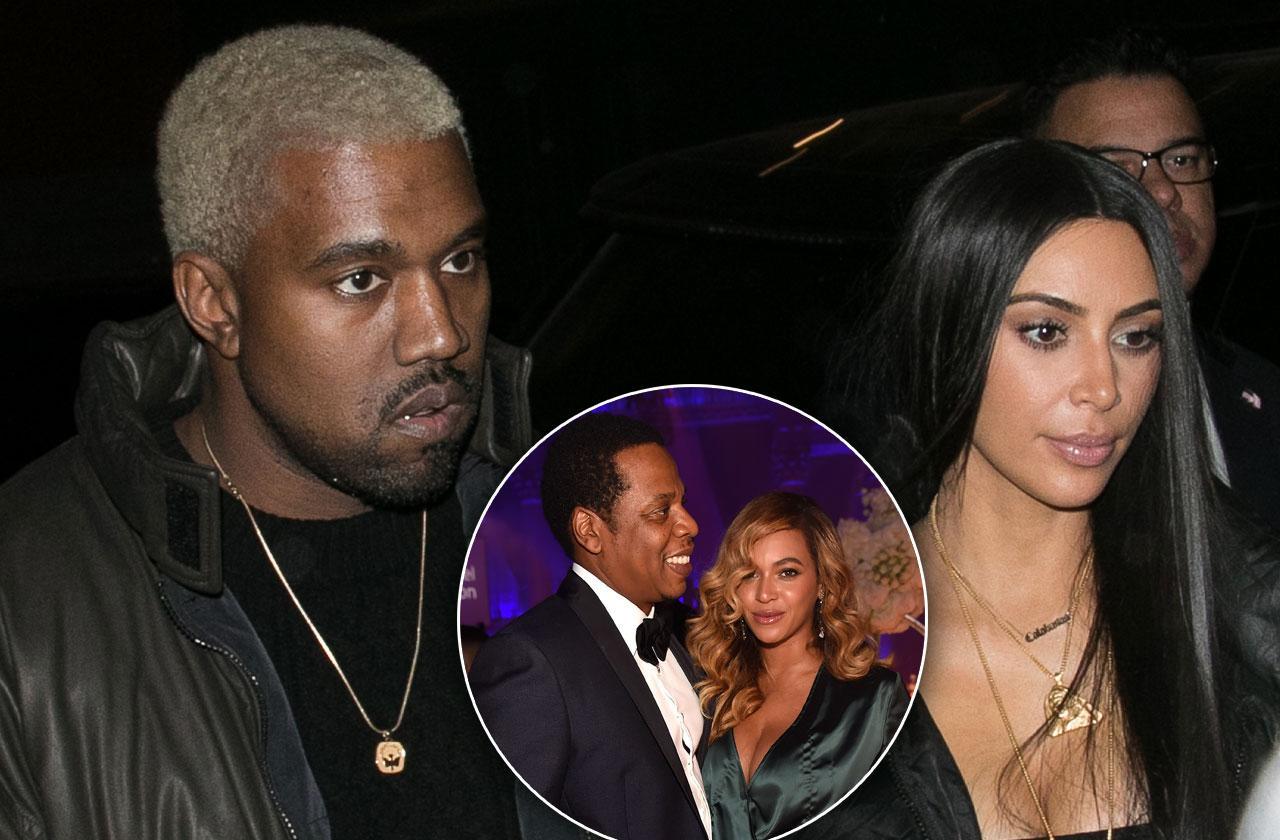 kim kardashian renew vows kanye west compete beyonce