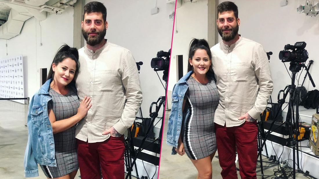 Jenelle Evans poses for a photo with David Eason.