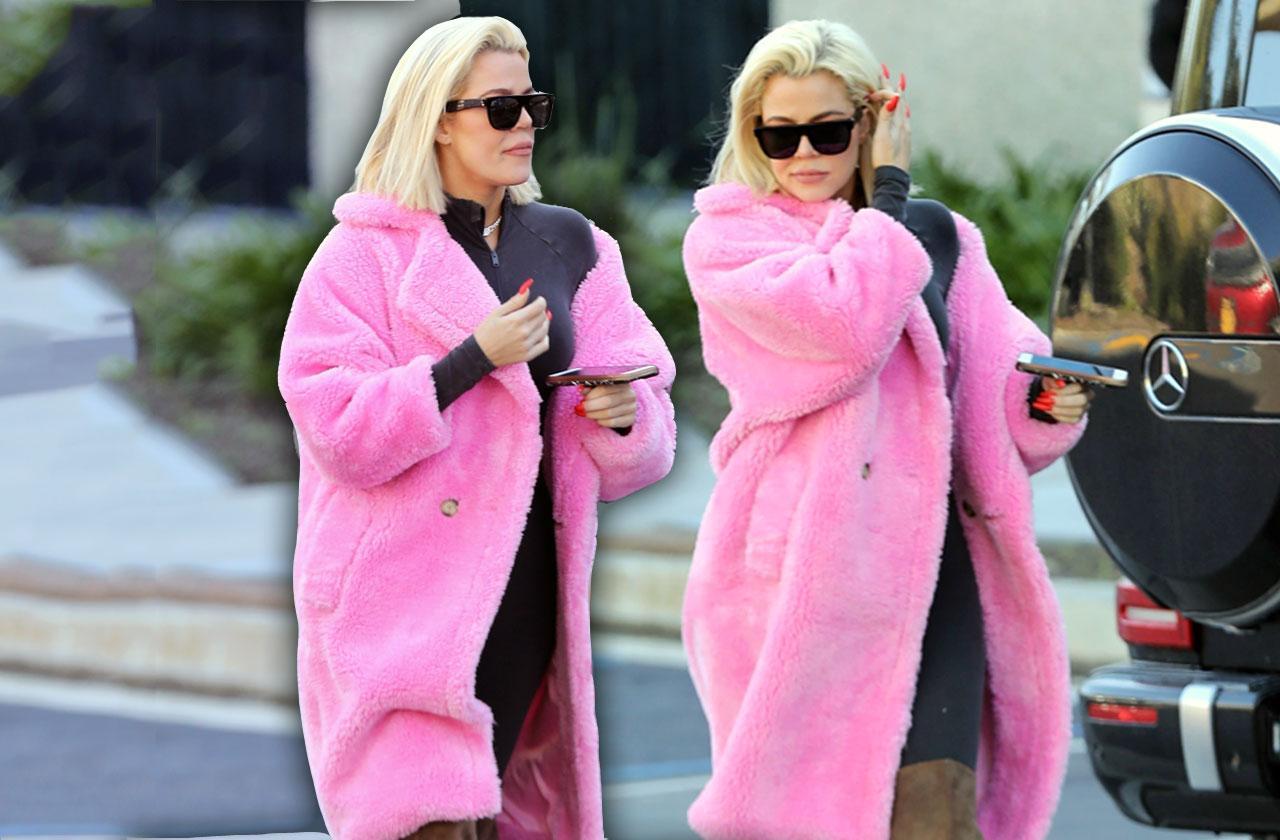 khloe Kardashian fur coat Kanye West office after cheating scandal