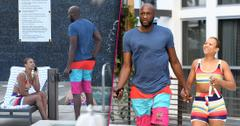 Lamar Odom And Fiance Sabrina Parr Hit The Pool After Their Shocking Engagement