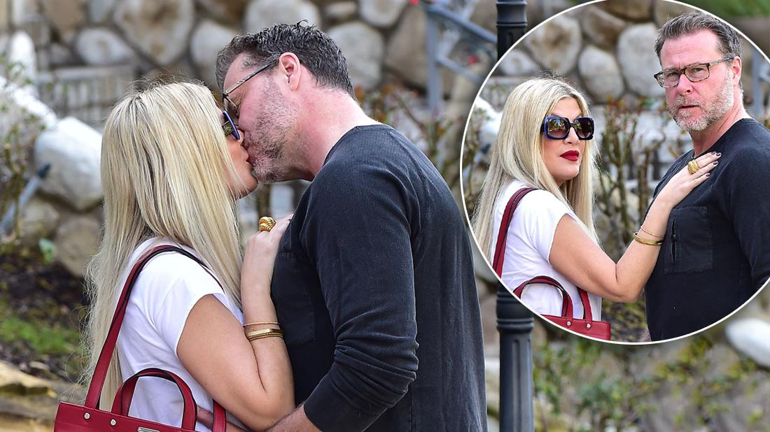 Dean McDermott Tori Spelling Lay On Heavy PDA