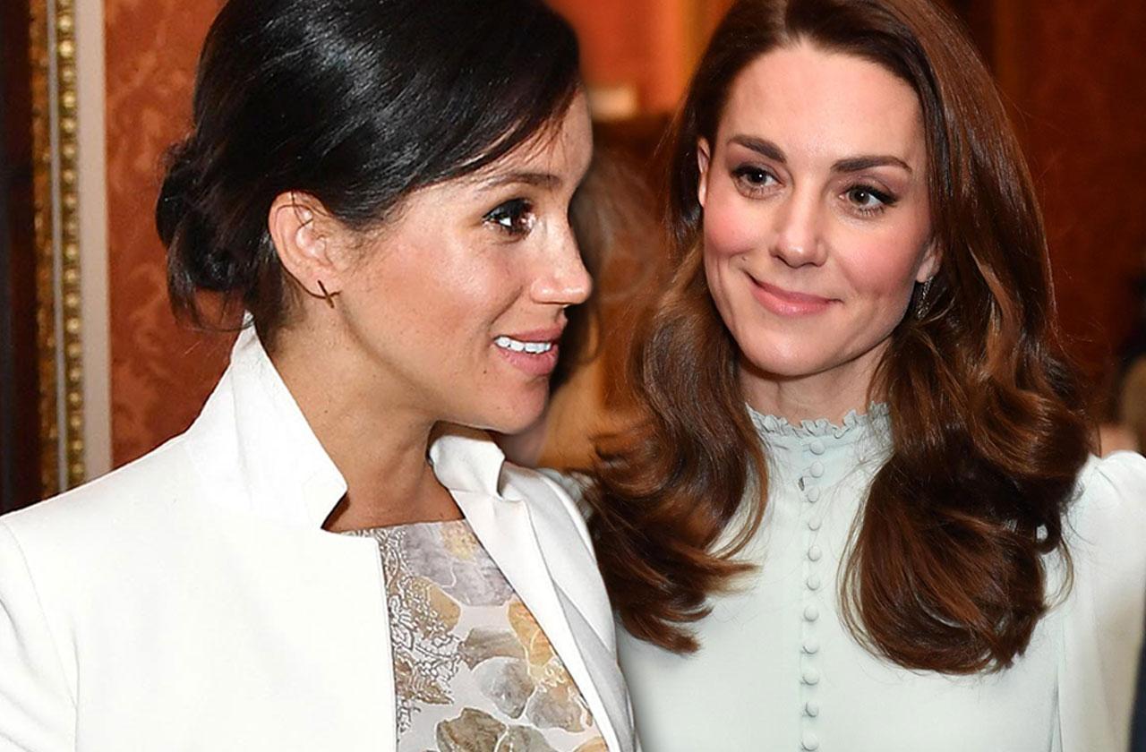//Meghan Markle Kate Middleton Attend Event Together Feud pp