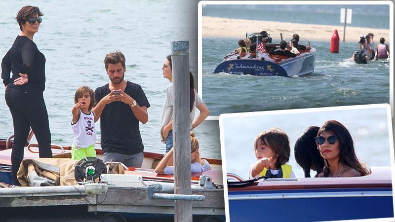 //kardashians boats paps