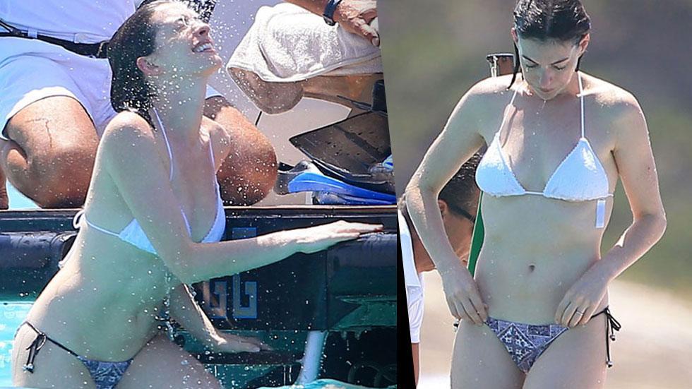 anne hathaway bikini scuba spain