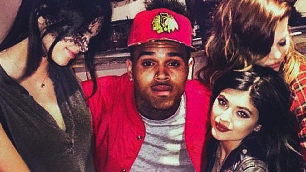 //Chris Brown kylie khloe and kendall pp