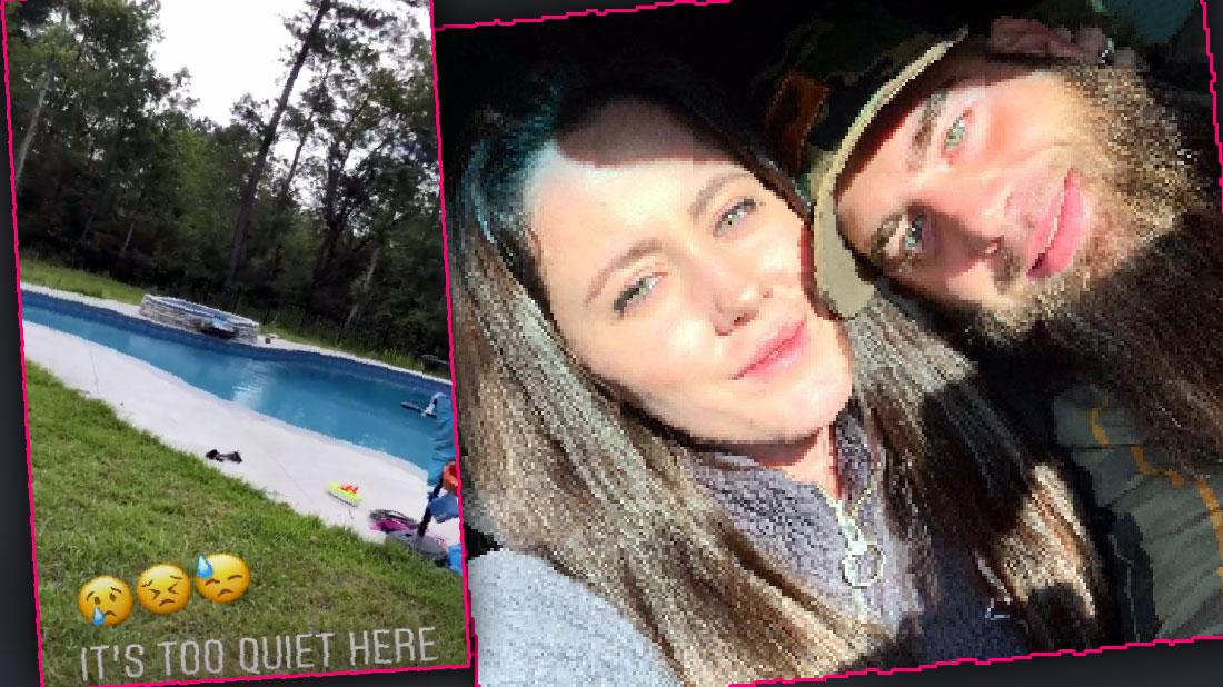 Jenelle Evans Shares Video Of Empty Pool Sad Father's Day
