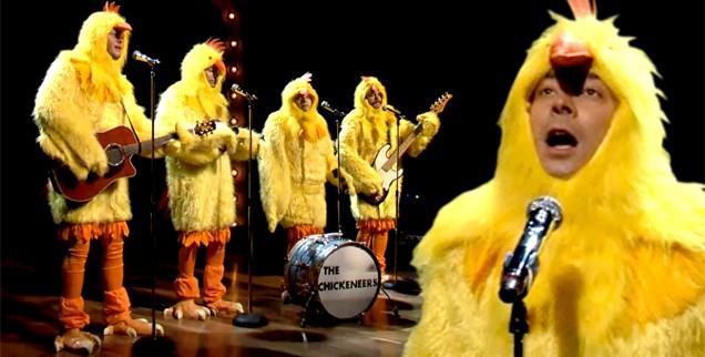 //jimmy fallon chickeneers