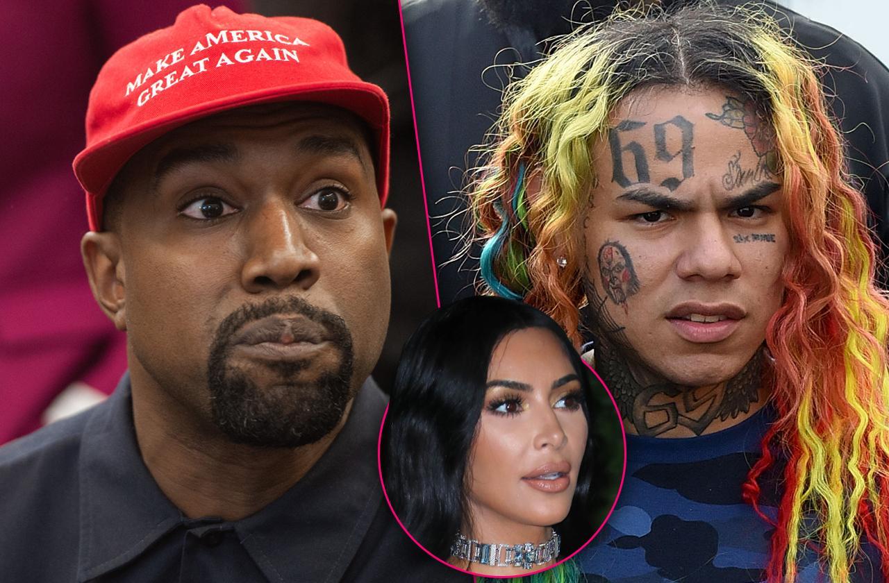 Kim Kardashian Worried Kanye Could Be in Trouble If Jailed Tekashi69 Spills Secrets