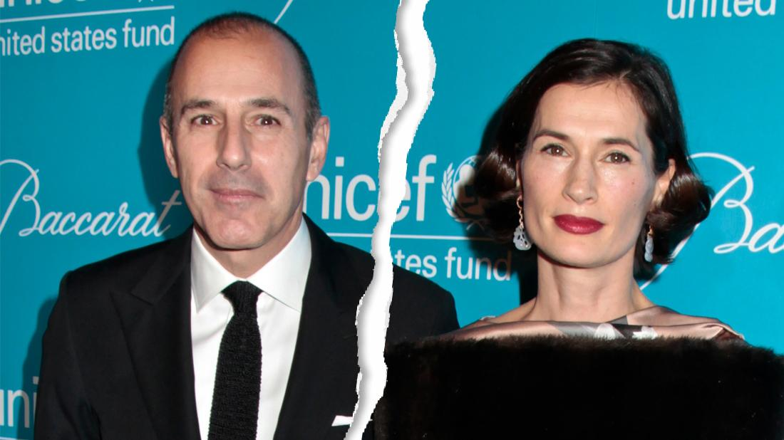 Matt Lauer and Annette Roque with a rip down the middle.