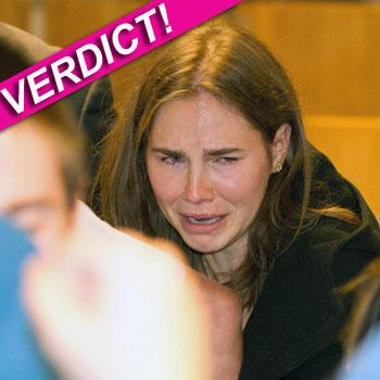 //amanda knox verdict photos cries splash