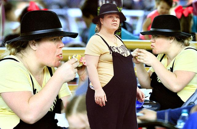 //kelly clarkson pregnant weight gain eating pp