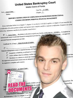 //aaron carter completes debt classes tall
