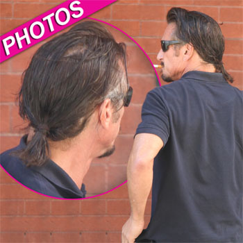 //sean penn greasy hair ponytail