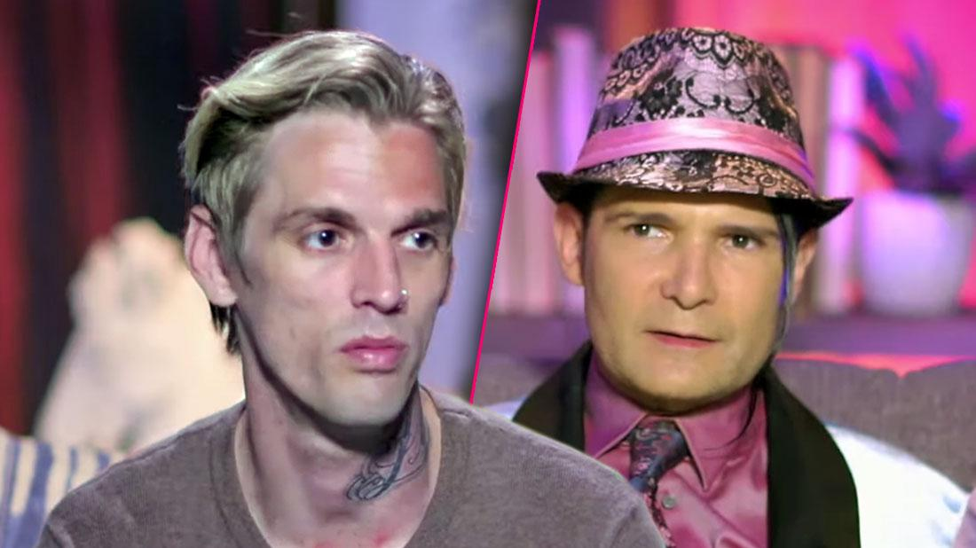 Aaron Carter Photo Split WithCorey Feldman on Marrriage Boot Camp Family Edition