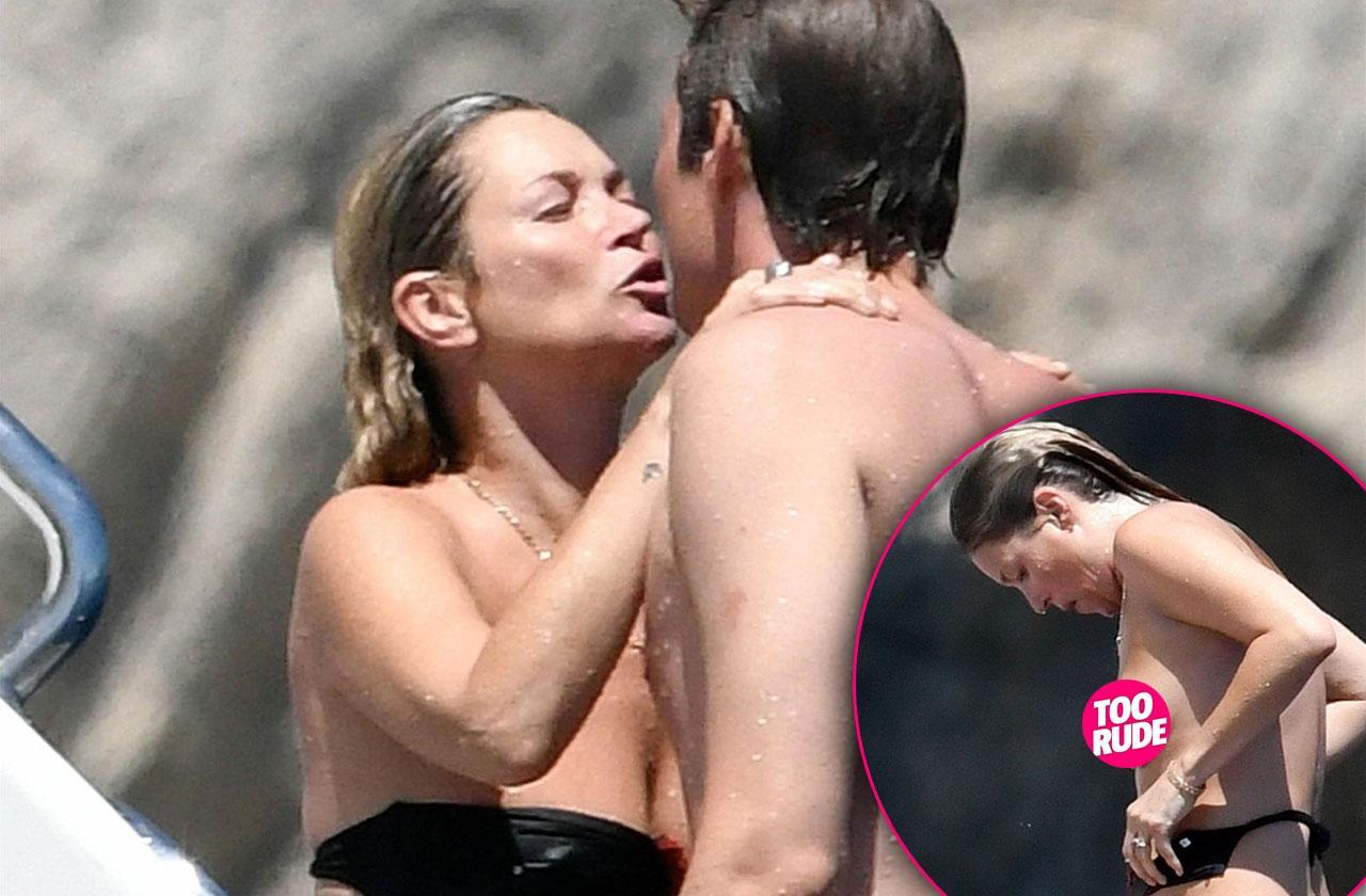 Kate Moss Topless Bikini Boyfriend