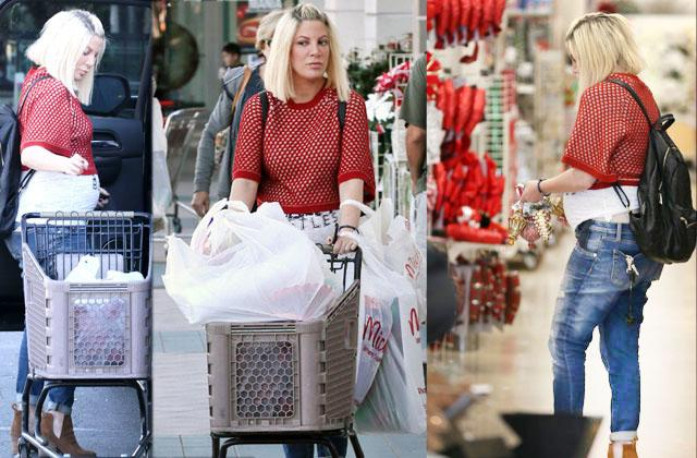 Tori Spelling Pregnant Baby Bump Fifth Child Shopping Money Crisis