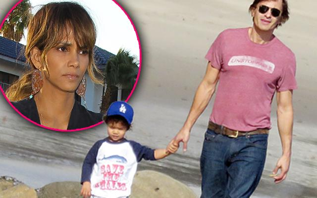 Halle Berry Ex Olivier Martinez With Son Maceo Martinez
