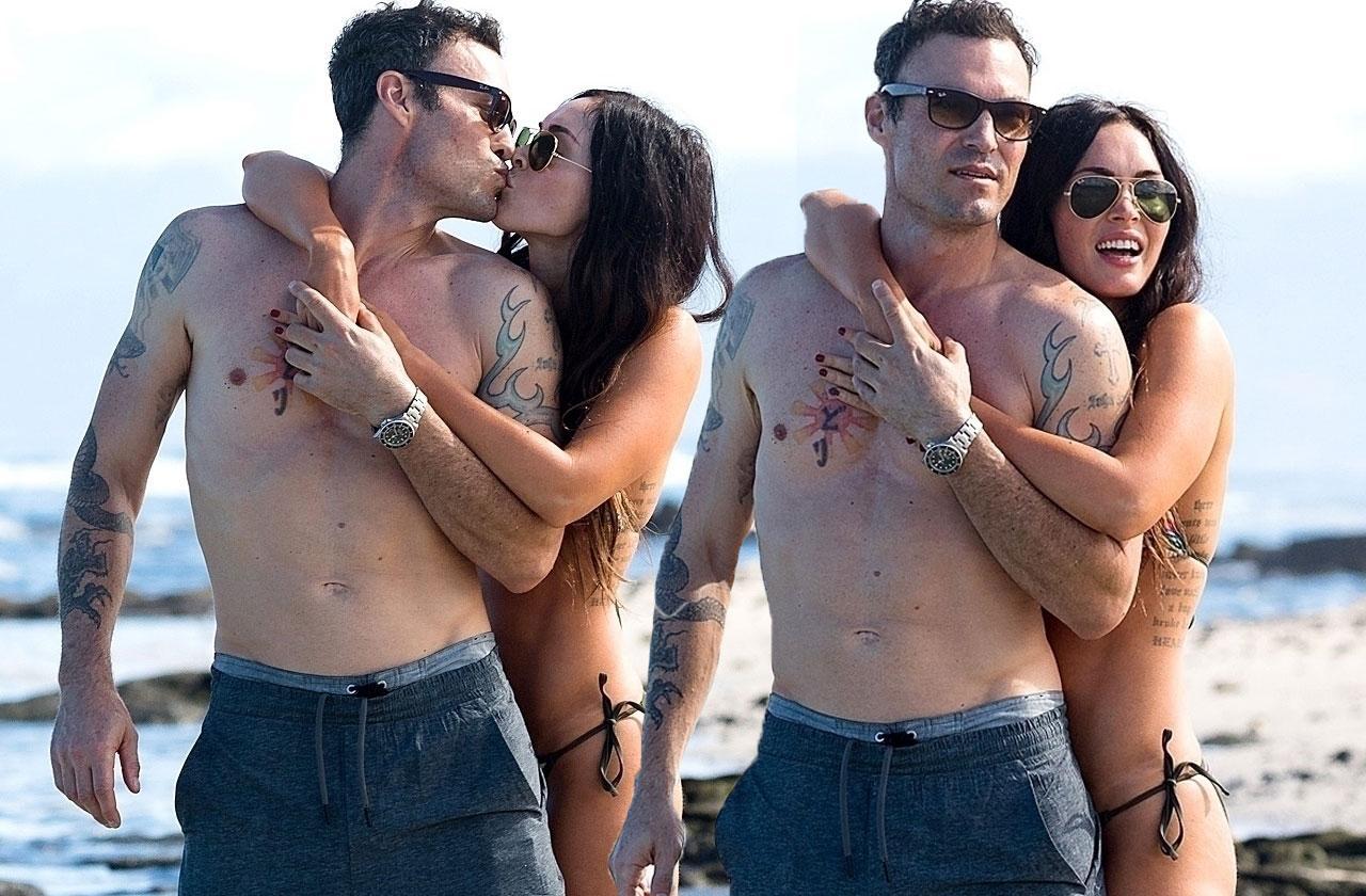 Megan Fox Bikini Husband Kiss