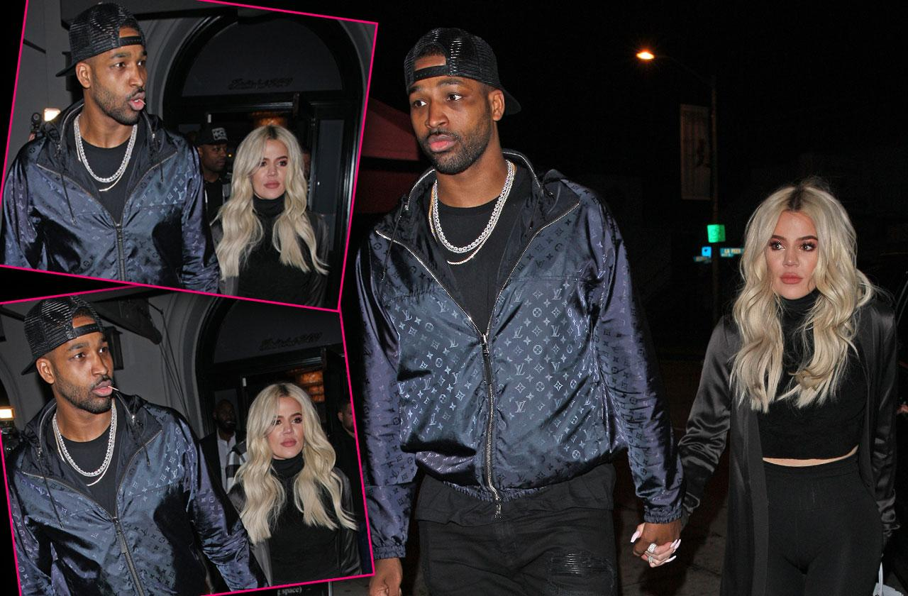 //Khloe Kardashian Holds Hands Tristan Thompson Date Cheating pp