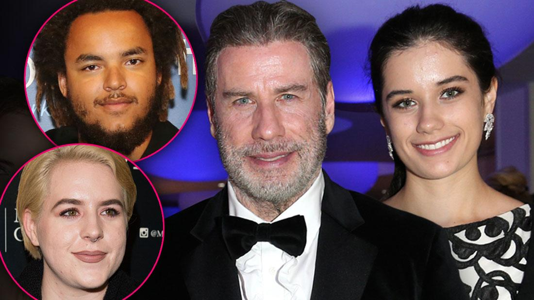 John Travolta & Daughter Ella Bleu, Connor & Isabella Cruise