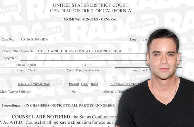 Glee Mark Salling Child Porn Arrest Hearing Canceled