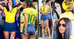 //alessandra ambrosio and adriana lima watch brazil defeat pp sl