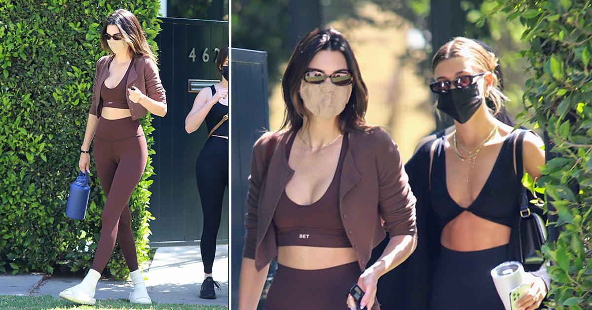 kendall jenner and hailey bieber meet for workout together