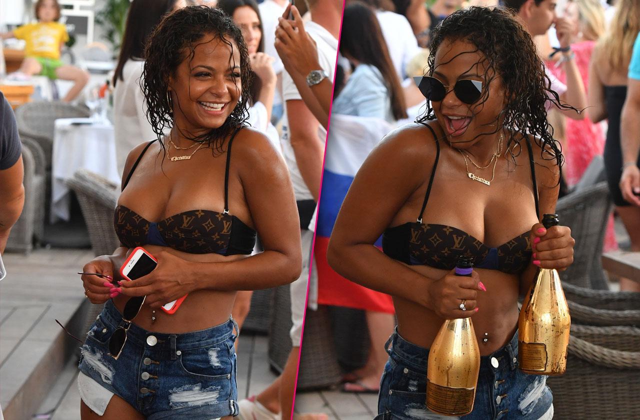 Christina milian cleavage bikini st tropez