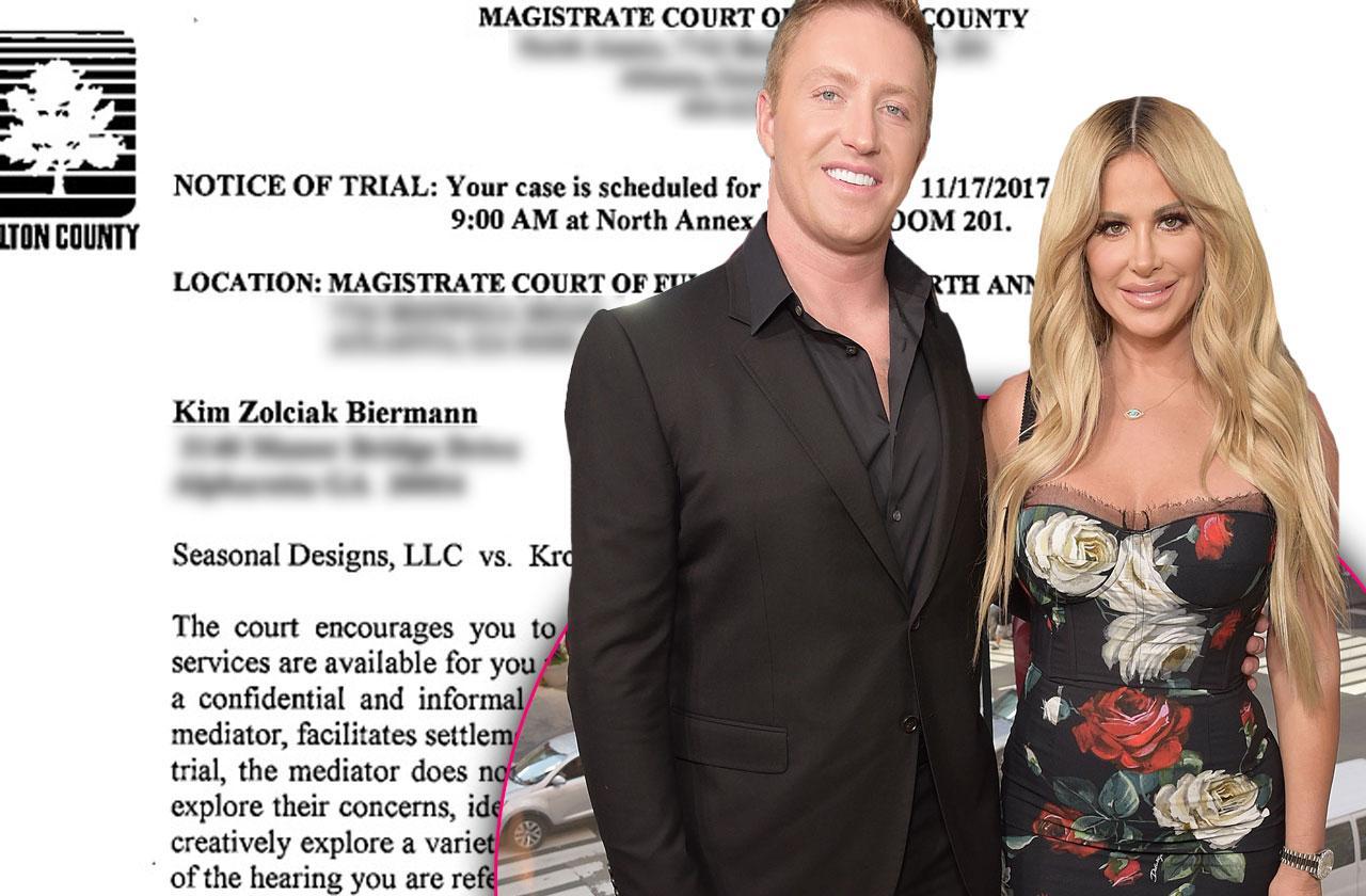 //kim zolciak kroy biermann sued holiday decorator trial date pp