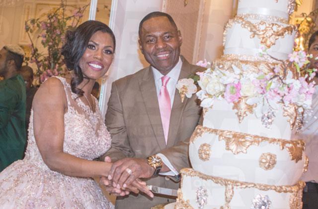 Omarosa Wedding Reception Pink Dress