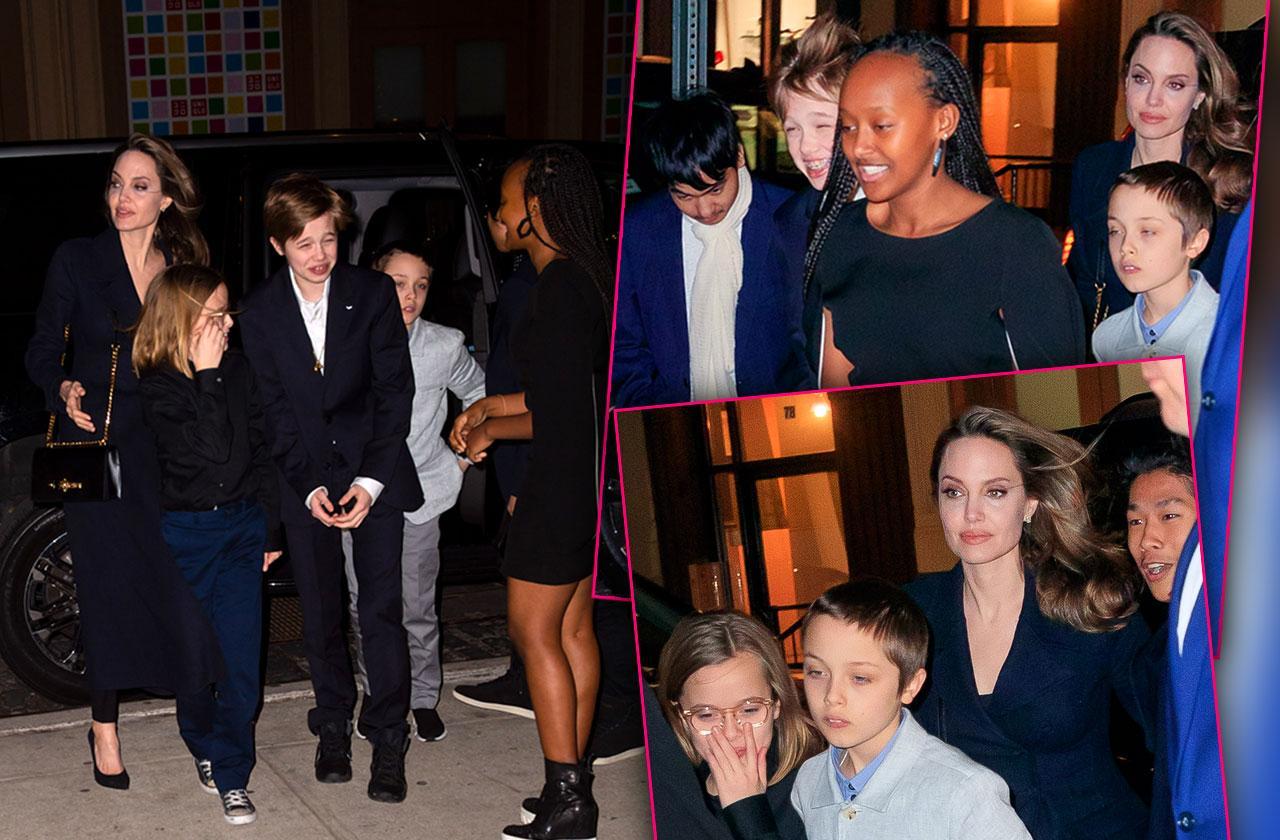 Angelina Jolie Children New York City