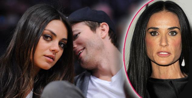 Ashton Kutcher-Mila Kunis-demi-moore-divorce-marriage-babies