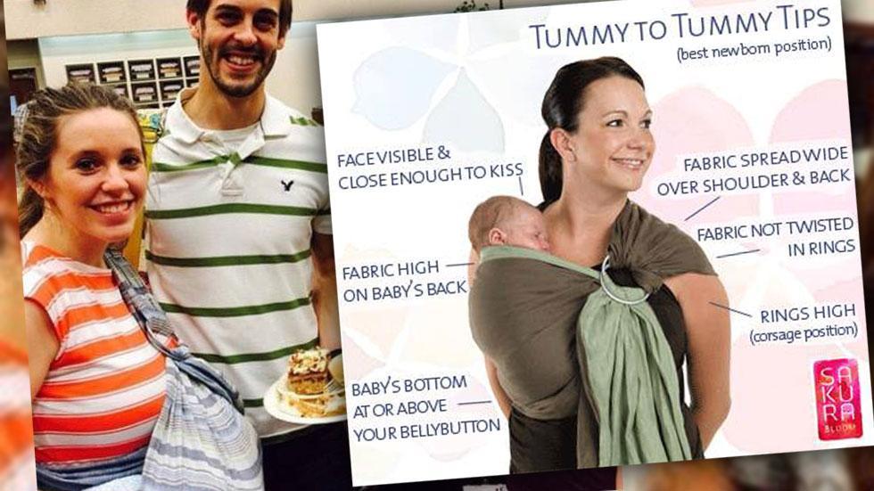 Jill Duggar Wears Baby Sling Incorrectly