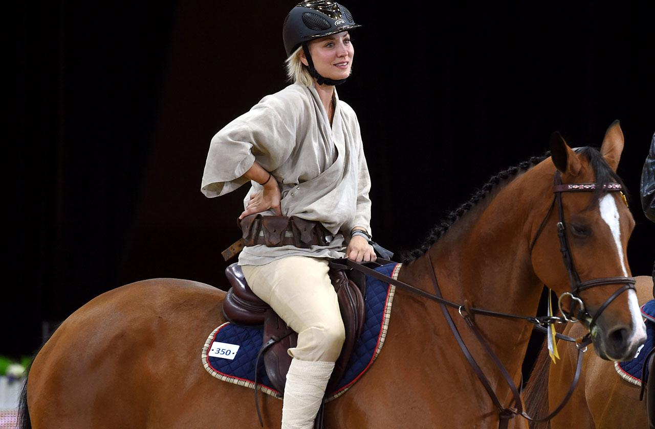 //kaley cuoco horse riding accident shoulder surgery nightmare cannot ride pp