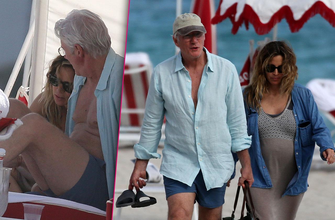 Richard Gere Pregnant Wife Alejandra Silva Miami Beach