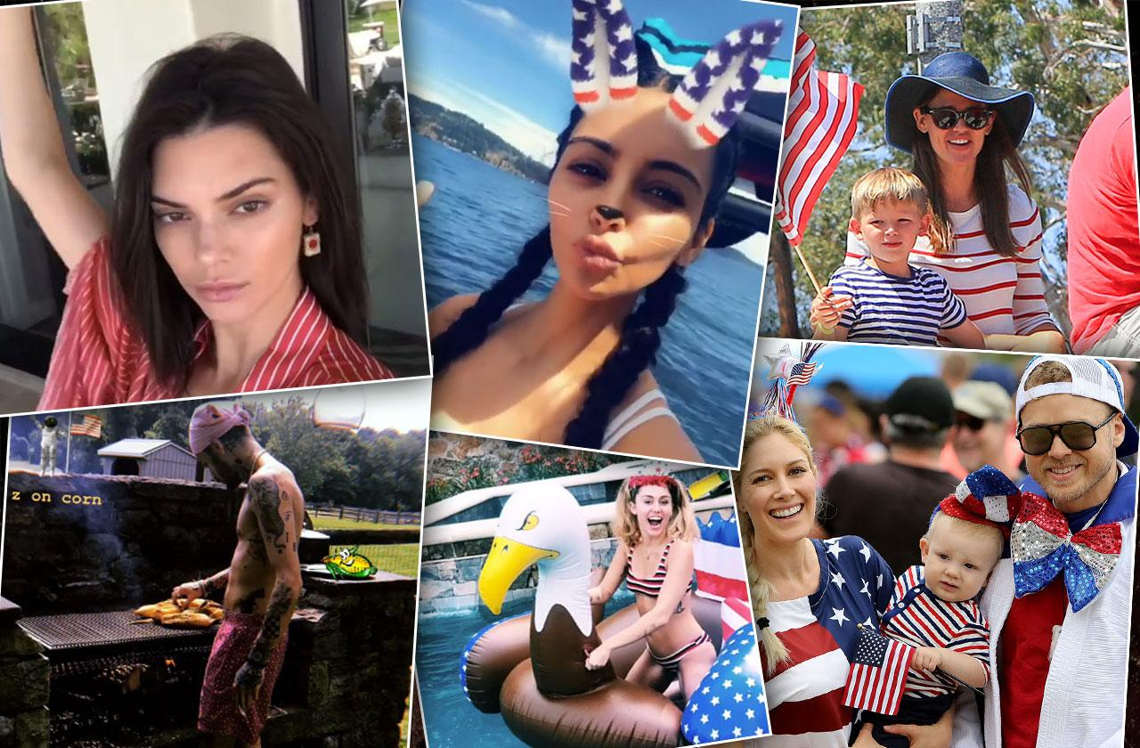 Celebrities Celebrate Fourth Of July
