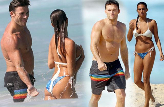 Scott Eastwood Shirtless Beach Girlfriend Flirting Pics