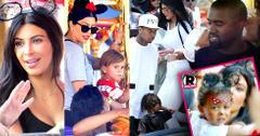 Kim Kardashian Tyga Kylie Jenner North West Disneyland