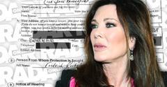 Lisa Vanderpump Restraining Order Against Man Alleged Harassment