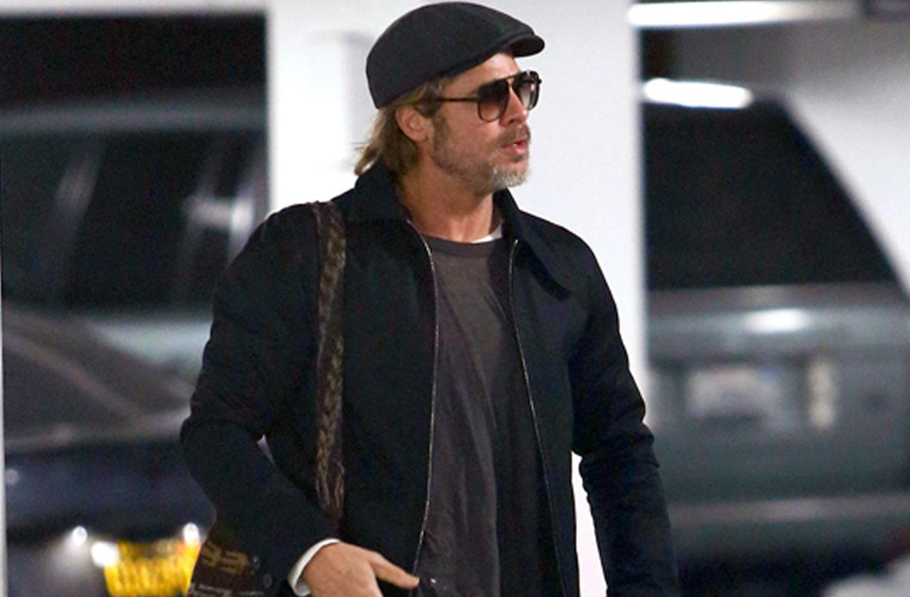Brad Pitt Heading Work 55 Birthday Celebration Kids