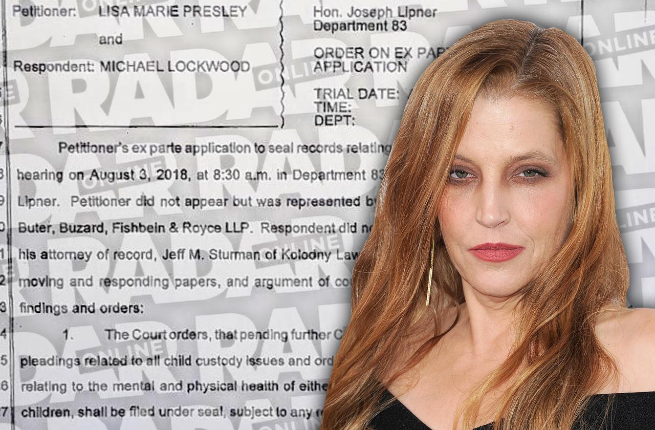Judge Rules Lisa Marie Presley Mental Docs Sealed Nasty Divorce