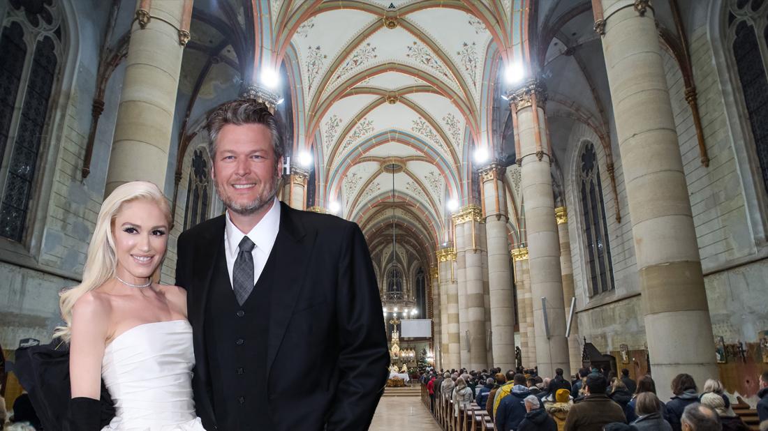 Gwen Stefani And Blake Shelton Attend Church Christmas Eve