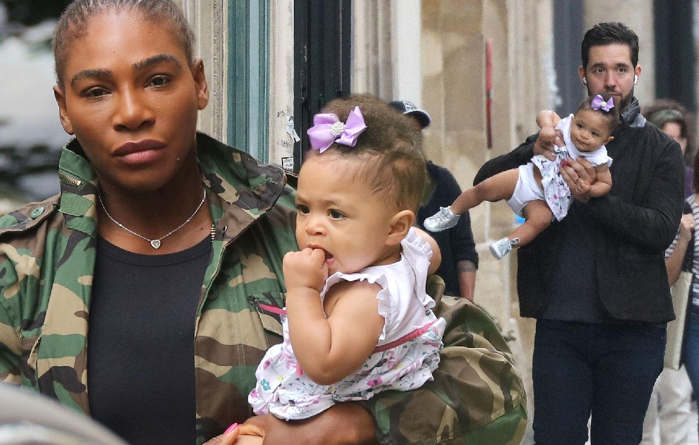 Serena Williams Baby And Husband Shop In Paris