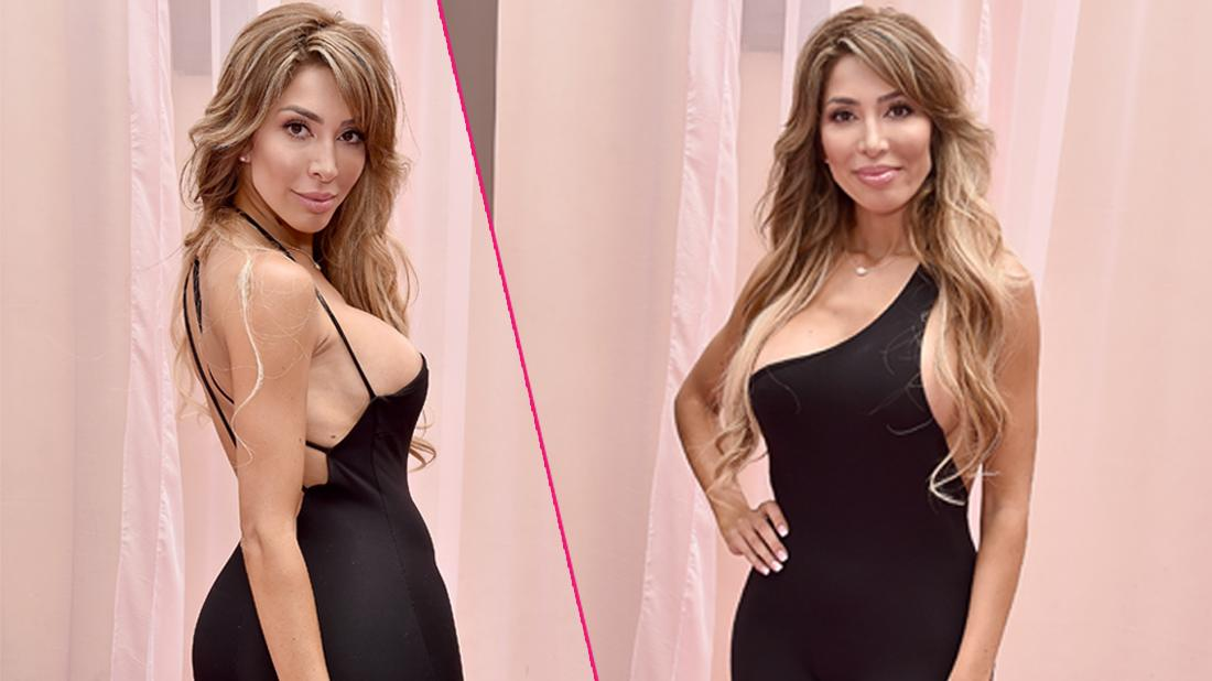 Farrah Abraham wears a black dress at Hollywood Unlocked Social Impact Brunch Powered By PrettyLittleThing.com.