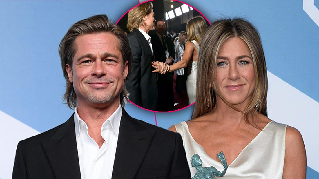 SAG Awards Bombshell! Brad Pitt Grabs Jen Aniston's Hand Backstage!